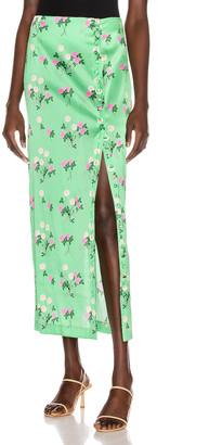 BERNADETTE Kelly Skirt in Floral Pink & Green | FWRD