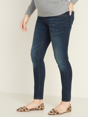 Old Navy Maternity Front-Low Panel Rockstar Super Skinny Jeans