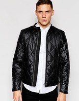 G Star G-Star Quilted Jacket Attacc Black Nylon