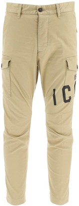 DSQUARED2 SEXY CARGO TWILL PANTS 52 Beige Cotton
