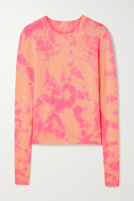 The Elder Statesman Hot Tranquility Tie-dyed Cashmere Sweater - Pink