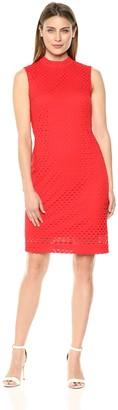 Sharagano Women's Mock Neck Dress
