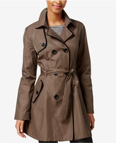 Betsey Johnson Skirted Corset-Back Raincoat