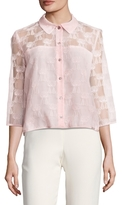 Paul & Joe Sister Groupy Cat Embroidered Blouse