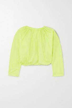 Molly Goddard Bonnie Open-back Cotton-poplin Top - Green