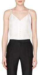SUISTUDIO Athens Button Front Silk Camisole