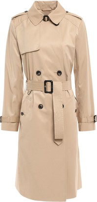 DKNY Belted Cotton-blend Gabardine Trench Coat