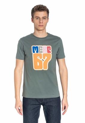 Merc Hare Men's Cotton T-Shirt with '67 Logo Print in Green XX-Large (UK: XXL)