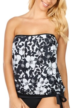 Island Escape Swimwear Blouson Tankini, Created for Macy's Women's Swimsuit