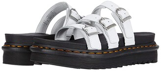 Dr. Martens Blaire Slide (White) Women's Shoes