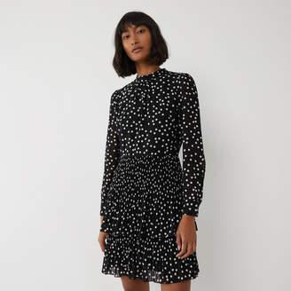 Warehouse Spot Micropleat Mini Dress