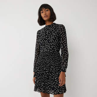Warehouse SPOT MICROPLEAT MINI DRESS