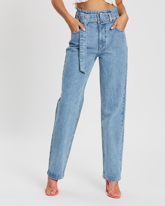 Dazie Chosen Belted Denim Jeans