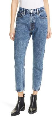 Moussy Vintage Acid Wash Boyfriend Crop Skinny Jeans