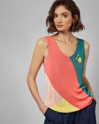 Ted Baker HARP Color block knitted vest