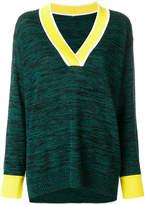 No.21 v-neck oversized sweater