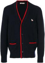 MAISON KITSUNÉ contrast trim cardigan - men - Lambs Wool - S