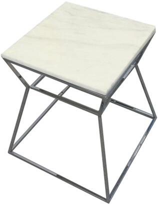 Pangea Geo Side Table Metal Frame With Marbel Top