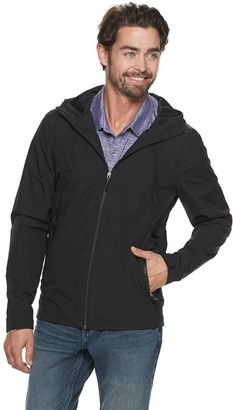 Marc Anthony Men's Slim-Fit Solid Hooded Rain Jacket
