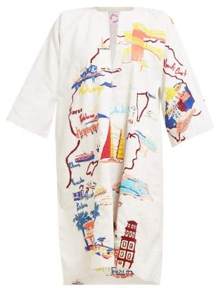 Kilometre Paris - Our Mediterranean Tour Linen Kaftan - Womens - White Multi