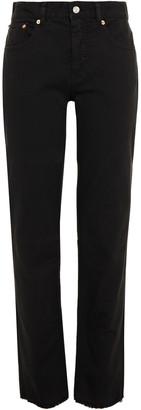 MM6 MAISON MARGIELA Frayed High-rise Straight-leg Jeans