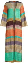 Missoni Mare Long-Sleeve Open-Front Chevron Coverup