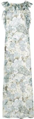 P.A.R.O.S.H. Ruffle Trim Maxi Dress