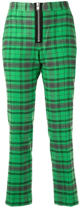 Yang Li Cropped Plaid Trousers