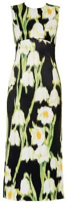 Carolina Herrera Sleeveless Floral Midi Dress