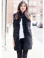 Donna Salyers' Fabulous-Furs Black Lllama Mid-length Faux Fur Vest.