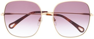 Chloé Eyewear Elliz square-frame sunglasses