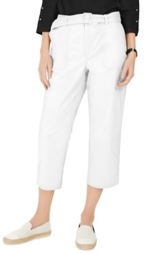 Charter Club Cropped Twill Pants, Created for Macy's