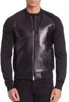 Emporio Armani Leather Blouse Jacket