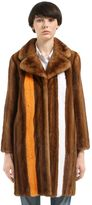 Simonetta Ravizza Striped Mink Fur Coat