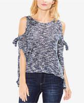 Vince Camuto Marled Split-Sleeve Sweater