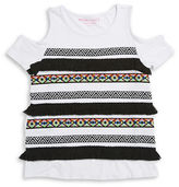 Design History Girls 7-16 Tribal Fringe Tee