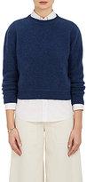 The Elder Statesman Women's Cashmere Crop Sweater-BLUE