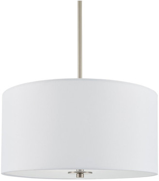Linea Di Liara Estaso Drum Pendant Light, Brushed Nickel