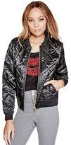 G by Guess GByGUESS Women's Clarissa Satin Bomber Jacket