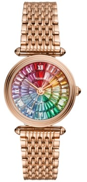 Fossil Women's Lyric Rose Gold-Tone Stainless Steel Bracelet Watch 32mm - A Limited Edition
