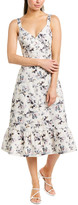 Rebecca Taylor Sofia Linen-Blend Midi Dress