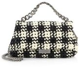 Stella McCartney Becket Small Woven Two-Tone Faux Leather Shoulder Bag