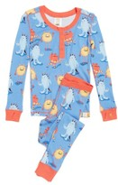 Toddler Boy's Munki Munki Fur Monsters Fitted Two-Piece Pajamas