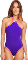 Seafolly Summer Vibe High Neck Maillot Swimsuit