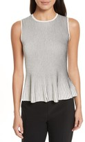 Theory Women's Canelis Prosecco Sleeveless Rib Knit Top