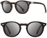 Shwood 'Florence' 49mm Polarized Wood Sunglasses