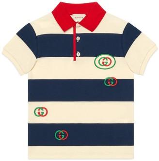 Gucci Children's cotton polo with Interlocking G