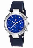 Swiss Legend Women's 'Madison' Swiss Quartz Stainless Steel and Silicone Casual Watch, Color:Blue (Model: 16175SM-03-BLS)