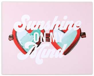 "Indigo EXPRESSIONS ART PRINT SUNSHINE ON MY MIND SUNGLASSES 8"" x 10"""