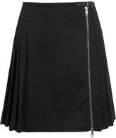 McQ by Alexander McQueen Cotton-blend twill mini skirt